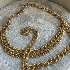 Gold Adjustable Chain Link Belt - Double 2pc Set